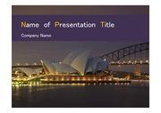 PPT양식 템플릿 배경 - 호주,시드니,오페라하우스3
