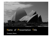 PPT양식 템플릿 배경 - 호주,시드니,오페라하우스5