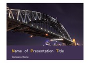 PPT양식 템플릿 배경 - 호주,시드니,하버브리지1