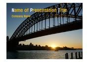 PPT양식 템플릿 배경 - 호주,시드니,하버브리지2