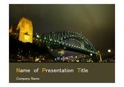 PPT양식 템플릿 배경 - 호주,시드니,하버브리지6