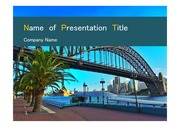 PPT양식 템플릿 배경 - 호주,시드니,하버브리지3