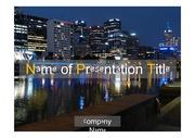 PPT양식 템플릿 배경 - 감각적, 호주, 멜버린,도시야경1