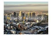 PPT양식 템플릿 배경 - 감각적, 호주, 멜버린,도시풍경1