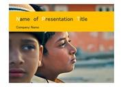 PPT양식 템플릿 배경 - 인도, 어린이3