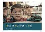 PPT양식 템플릿 배경 - 인도, 어린이1