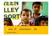 PPT양식 템플릿 배경 - 인도, 어린이5
