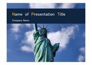 PPT양식 템플릿 배경 - 미국, 자유의 여신상3