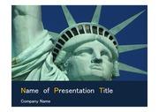 PPT양식 템플릿 배경 - 미국, 자유의 여신상