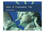 PPT양식 템플릿 배경 - 미국, 자유의 여신상2
