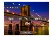 PPT양식 템플릿 배경 - 감각적,미국,뉴욕,브루클린 다리1