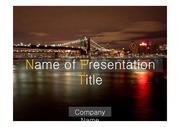 PPT양식 템플릿 배경 - 감각적,미국,뉴욕,브루클린 다리3