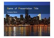 PPT양식 템플릿 배경 - 미국, 뉴욕, 도시의 아름다움2