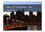 PPT양식 템플릿 배경 - 미국, 뉴욕, 도시의 아름다움1