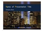 PPT양식 템플릿 배경 - 미국, 뉴욕, 도시의 아름다움4