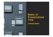 PPT양식 템플릿 배경 - 현대건축물, 입면패턴1
