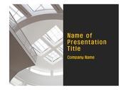 PPT양식 템플릿 배경 - 현대건축물, 천장창