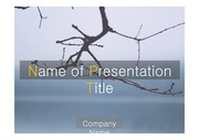 PPT양식 템플릿 배경 - 감각적,겨울 나뭇가지1