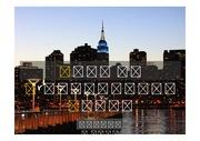PPT양식 템플릿 배경 - 감각적,미국,뉴욕,도시야경1