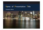 PPT양식 템플릿 배경 - 미국, 뉴욕, 도시의 아름다움5