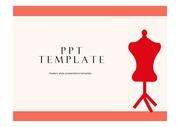 패션PPT 몸체마네킹 의류산업 패션비즈니스 의류학 패션브랜드 패션 S/S트렌드분석 PPT템플릿