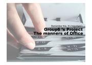 [영어자료] 직장생활에서의 매너의 필요성, 직장샐활 매너의 종류 및 방법(전화매너, 소개매너, 테이블매너, 식사매너, 인사매너)