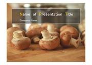 PPT양식 템플릿 배경 - 건강한먹거리, 버섯2