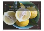 PPT양식 템플릿 배경 - 건강과일, 레몬1