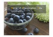 PPT양식 템플릿 배경 - 슈퍼푸드, 건강과일,블루베리1