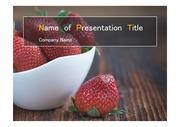 PPT양식 템플릿 배경 - 컬러푸드, 건강과일, 딸기1