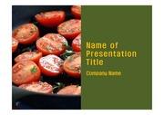 PPT양식 템플릿 배경 - 슈퍼푸드, 건강채소,토마토1