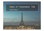 PPT양식 템플릿 배경 - 파리,에펠탑2