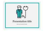 의료PPT 의사배경 의료인 건강 질환 질병 주제에 어울리는 PPT템플릿