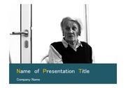 PPT양식 템플릿 배경 - 노인성 질환, 노인케어,치매1