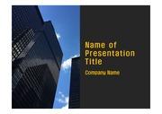 PPT양식 템플릿 배경 - 캐나다,토론토, 현대건축물2