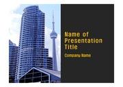 PPT양식 템플릿 배경 - 캐나다,토론토, 현대건축물6