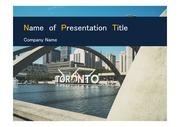PPT양식 템플릿 배경 - 캐나다,토론토, 현대건축물10