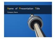 PPT양식 템플릿 배경 - 캐나다,토론토, 현대건축물9