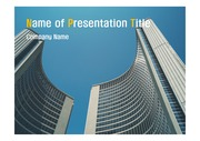 PPT양식 템플릿 배경 - 캐나다,토론토, 현대건축물8