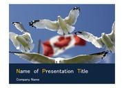 PPT양식 템플릿 배경 - 캐나다 국기2