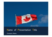 PPT양식 템플릿 배경 - 캐나다 국기1