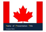 PPT양식 템플릿 배경 - 캐나다 국기3
