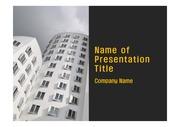 PPT양식 템플릿 배경 - 현대 건축물09