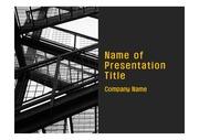 PPT양식 템플릿 배경 - 현대 건축물08