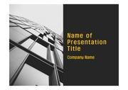 PPT양식 템플릿 배경 - 현대 건축물03