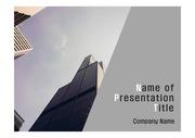 PPT양식 템플릿 배경 - 현대건축물15
