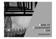 PPT양식 템플릿 배경 - 현대건축물18