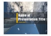 PPT양식 템플릿 배경 - 현대건축물24