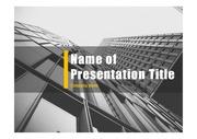 PPT양식 템플릿 배경 - 현대건축물36