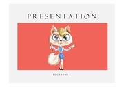 고양이캐릭터PPT 캐릭터 만화 애니 선생님 발표 교육PPT템플릿